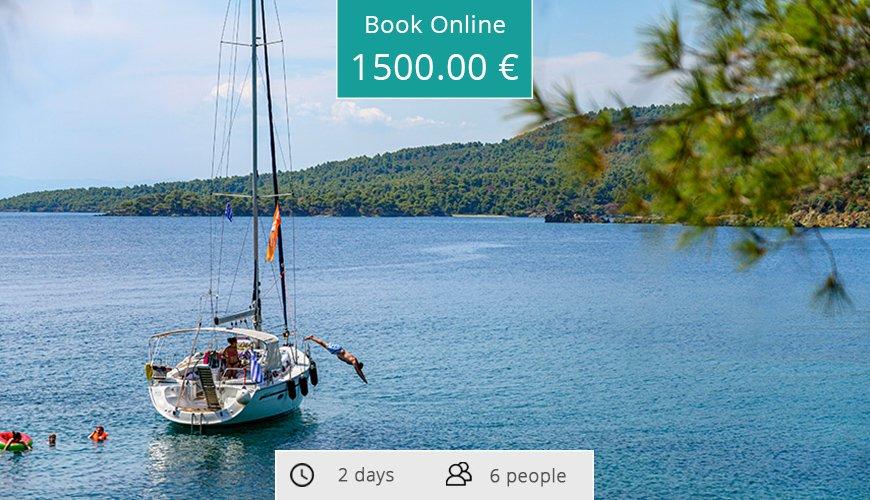 2 days sailing cruise to Toroneos (from Kassandra)