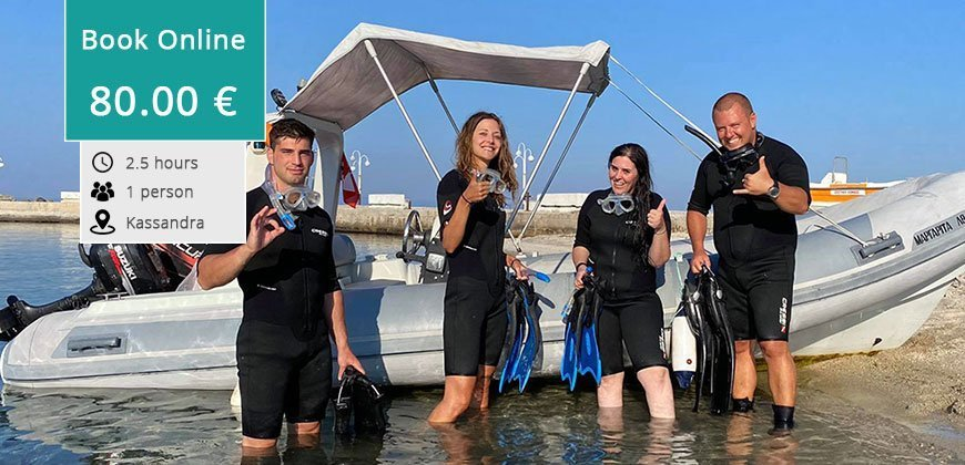 Discover Scuba Diving by Boat, Kassandra